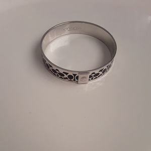 Authentic Coach silver toned bangle
